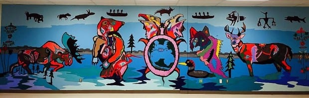 In December 2016 ArtsCan Circle travelled to Pikangikum with muralist Michael Cywink