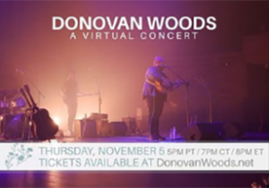 Donovan Woods fundraiser for Arts Can Circle