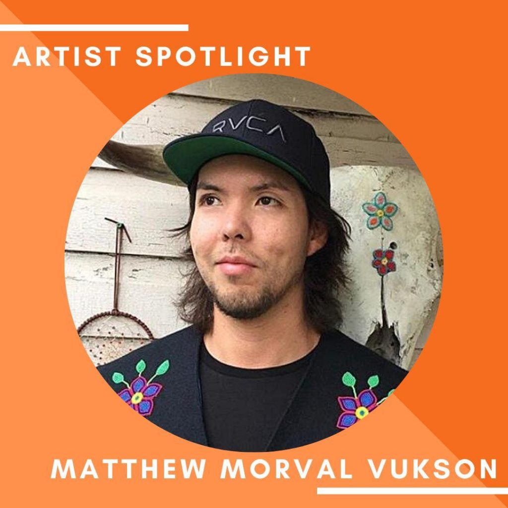 """This weeks Artist Spotlight is beadmaker Matthew Morval Vukson of 7th Fire Bead Designs. Matthew has this important message to share.   """"I'm so proud to be an artist, proud of where I am now and to stick with it, following the stories and teachings from my mother, who's my teacher, a residential school survivor - it has been something that kinda saved my life.   As a man, it's important to release the energy in a good way.  Art and creativity gives me that.""""  #ArtsCanCircle #ArtsCanConnects #Connection #ProudArtist #ArtistSpolight #IndigenousYouth #DreamBig 7th Fire Bead Designs"""
